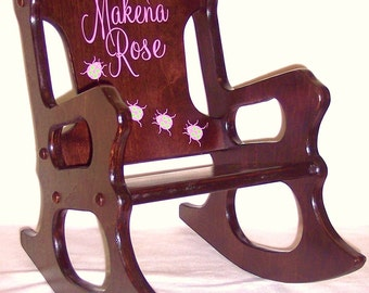 Rocking Chair: Personalized - Ladybugs