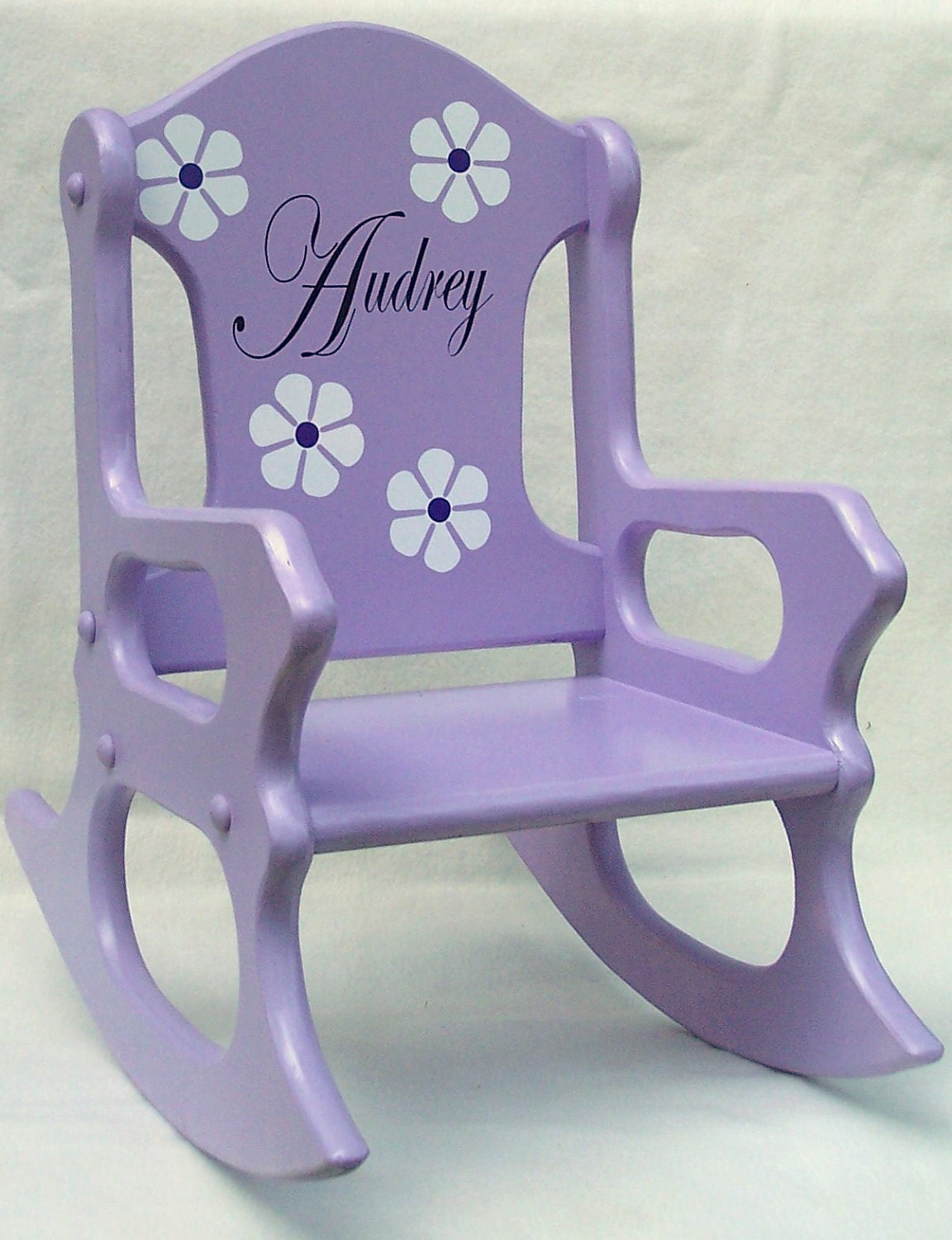Childs Rocking Chair Purple personalized