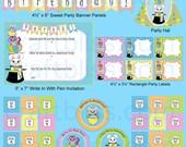 Alice in Wonderland Party Wonderland Digital Party - Wonderland Invitation Cheshire Cat - White Rabbit - House Mouse Wonderland Invitation