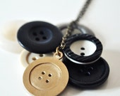 Bronze Button Necklace - Lost Button pendant - Gift for Her Sewing Crafty Girl