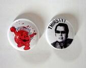 Jim Jones & Bloody Kool Aid 1 Inch Button Set