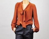 Silk blouse with bow tie - Style 32