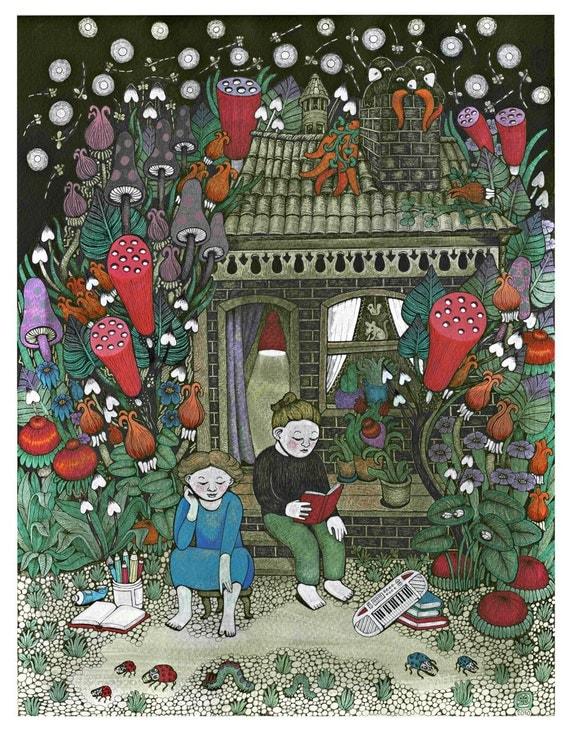Dream House and flower garden