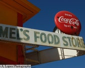 New Orleans Photography, Mels Food Store, Mardi Gras, Coca Cola Sign, Big Easy, Red, Blue, Yellow, NOLA, Fine Art Color Photography, 8x10