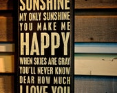 Fine Art Photography, You Are My Sunshine, You Make Me Happy, Valentines Day, Love, Happiness, When Skies are Gray, 8x10 Photographic Print
