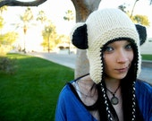 Bear or Kitty Earflap Hat - MADE TO ORDER