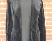 Vintage Velour Black Blazer Size Small