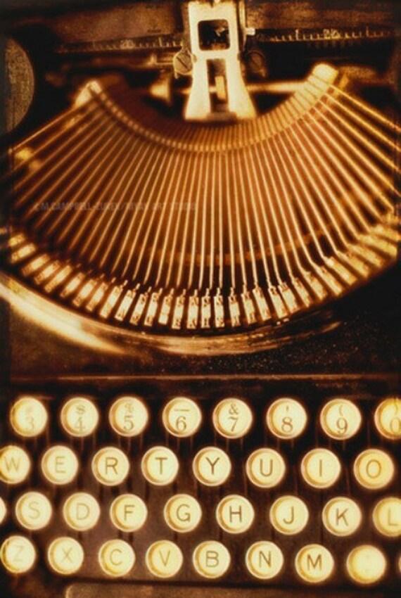 photography, typewriter photograph, black office decor, typewriter keys, Ink Slinger, vintage Remington dark noir authors writers gift print