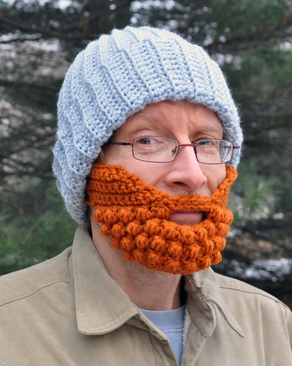 Beard for a Beanie Hat, Adult Medium, Orange