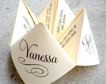 BLACK Wedding Cootie Catcher (Pdf - Printable)