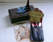 Small Vintage Tin with Assorted Random Vintage French Eclectic Finds