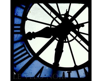 Clock, Paris, France, Orsay Museum, Blue Hour, Unmatted 8x8 TTV-inspired Fine Art Print