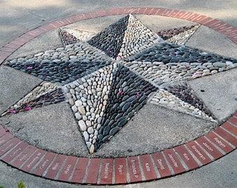 Compass Rose Beachrock Mosaic Class Project