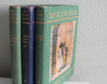 Vintage Book Bundle- 3 My Book House children's story books