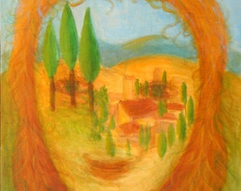 The Homeland - Lovingly Painted Original Acrylic Painting on Canvas