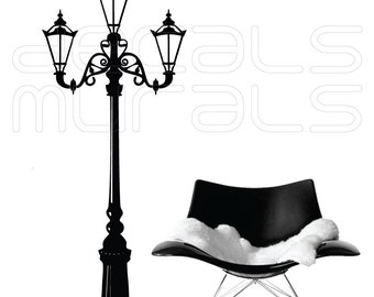 Wall decal RETRO STREET LAMP Vinyl stickers wall decor by Decals Murals