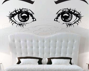 Wall decals EYES ON YOU large vinyl art surface graphics interior decor by Decals Murals