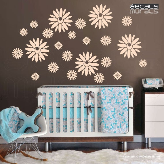 Wall decals FLORAL BOHEMIAN FLOWERS Surface graphics interior decor by Decals Murals