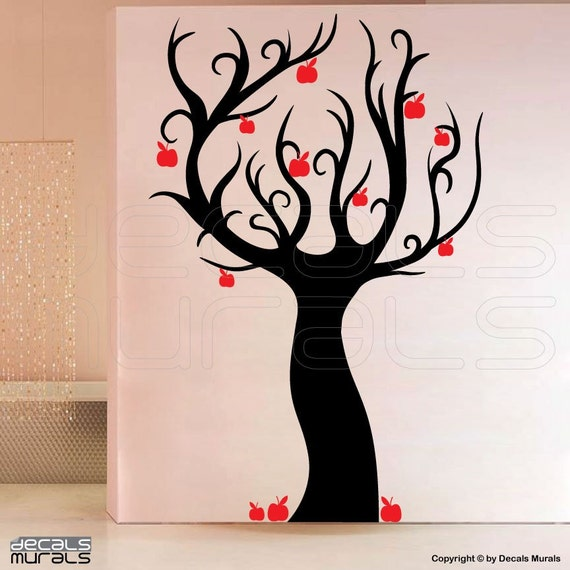 Wall decals enchanted apple tree wall stickers by decalsmurals for Apple tree mural