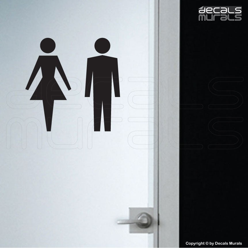 wall decals female male symbol stick figure stickers his and hers bathroom  sign by decals murals. Bathroom Signs  Cosco Ada Restroom Signs Menwomen 6    Redesigned