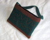 Laptop carrier knit and felted