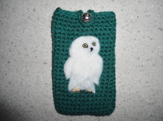 I-phone/Smartphone case felted with needle felt owl