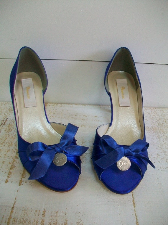Blue Wedding Shoes - Paris Wedding - Parisian Wedding - Oui Charm Wedding Shoes - Over 200 Colors - Choose Your Heel Height - Wide Sizes