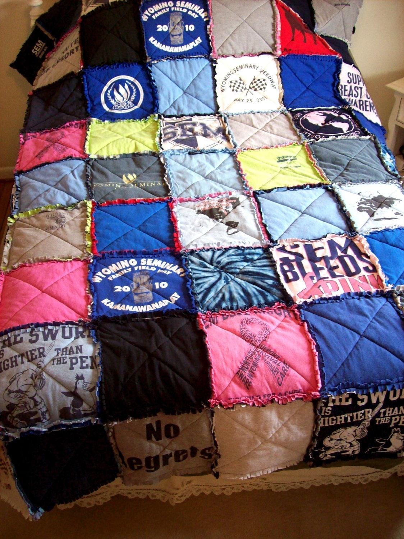 TShirt Quilt Memory Blanket Custom Made From Your Own Tees : custom tshirt quilts - Adamdwight.com