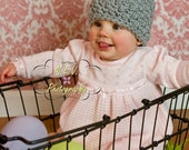 Nubby Bunny Crochet Hat  : 0-3, 3-6 or 6-12 month