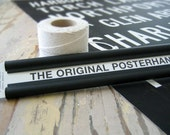 POSTER Hanger. Great for Bus Scrolls, Subway Signs, Transit Posters. Black Aluminum. 20 inch.