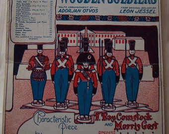 Piano Sheet Music The Waltz Of The Wooden Soldiers Vintage 1920's Arrangement By Adorjan Otvos. From Original Melody by Leon Jessel
