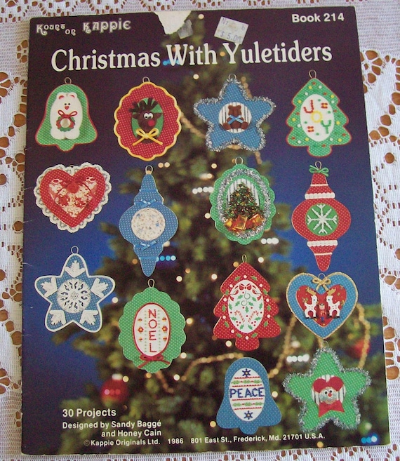 """Kount on Kappie Leaflet """"Christmas With Yuletiders"""" Book 214 Christmas Ornaments Projects"""