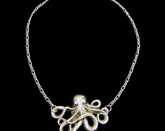 Steampunk Cthulhu Octopus Necklace
