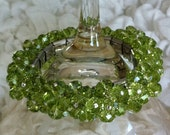 Peridot Cocktail Bracelet >> cha-cha bracelet, green bracelet, august bracelet, crystal bracelet, bangle, peridot bracelet, statement, SALE