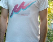 Summer Fashion Men Tshirt Vintage 1980s Novelty Tee White Milwaukee Shirt