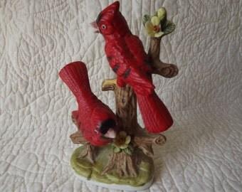 Vintage Porcelain Cardinal Bird Figurine