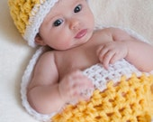 Hat and Cocoon New Baby Photo Prop, Cocoon Nest Hat Photography all Babies, Photo Shoot Gift Newborns, Baby Shower Gift Hat and Cocoon Photo