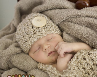 Hat and Cocoon Cozy Newborn Baby Photo Prop in PEARL / New Baby Photo Shoot Infants Girl Boy / GIFT Photography Baby Shower Hat Cocoon Wrap