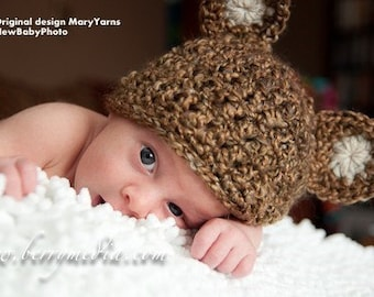 Teddy Bear Hat and Cocoon Newborn Baby Photo Prop in NUTTY photography set 2pcs Infant Girl Boy Photo shoot The Perfect GIFT all Babies Baby