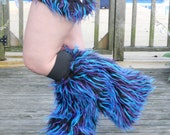 Monster style fuzzy leg warmers