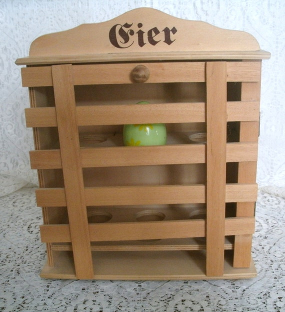 German Kitchen Designs: Vintage Wooden Egg Cupboard German Chicken Farm Kitchen