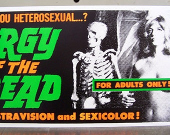 Orgy of the Dead sexploitation screen print poster Ed Wood Criswell B movie extreme