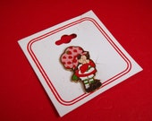 Vintage Strawberry Shortcake Enamel Pin Brooch
