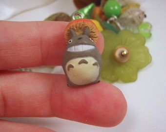 Super tiny My Neighbor Totoro With Giant Mushroom Charm Discontinued VERY Limited Stock Miyazaki