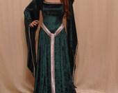 Celtic dress, medieval dress, ST Patricks day dress, elven dress, girdle belt,