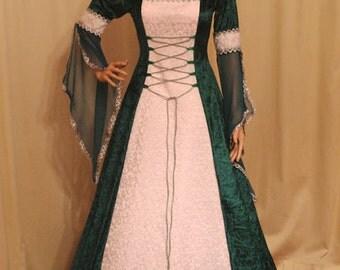Celtic dress, wedding dress, renaissance faire gown, handfasting dress, custom made dress