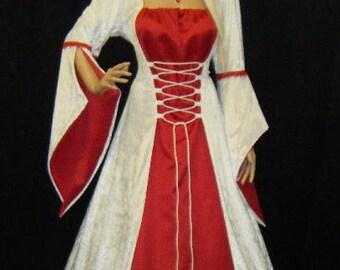 medieval dress, handfasting dress, renaissance wedding dress, elven dress, custom
