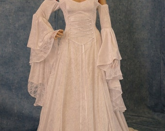 dress and velvet cape with scottish widow hood, custom made