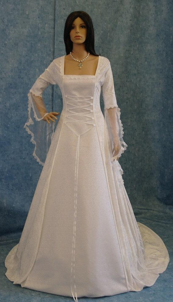 Reserved for Kym   -  medieval handfasting renaissance wedding fantasy dress custom made