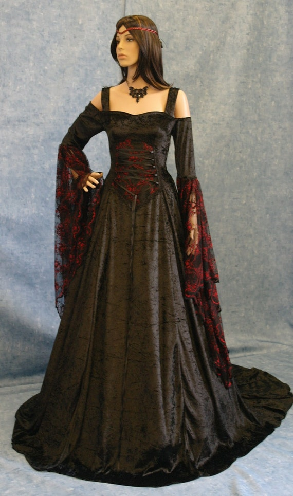Renaissance medieval gothic wedding dress pagan by for Renaissance inspired wedding dress